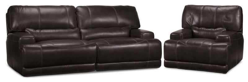 Dearborn Power Reclining Sofa and Recliner Set - Blackberry
