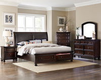 Chester 6-Piece King Bedroom Set - Cherry
