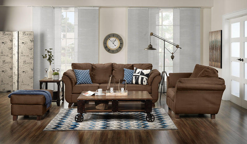 Collier 2 Pc. Living Room Package w/ Chair - Chocolate