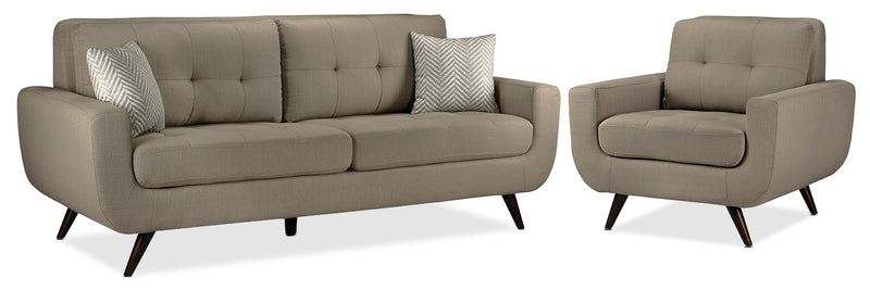 Julian Sofa and Chair Set - Grey
