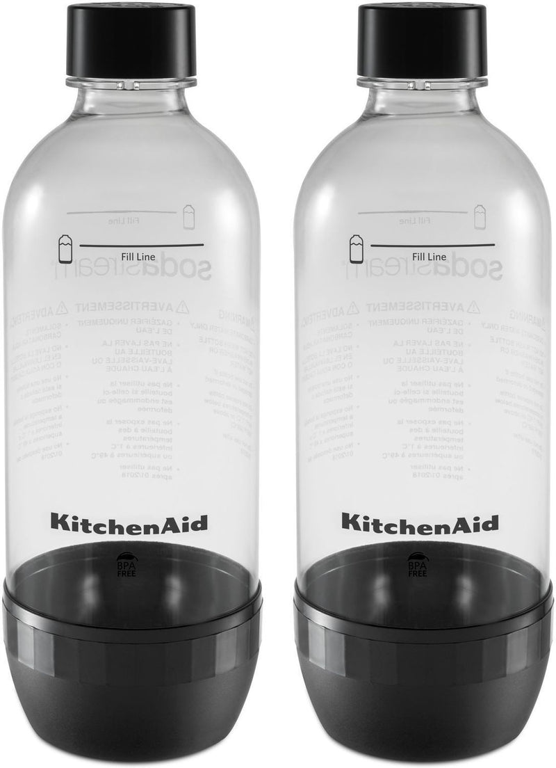 KitchenAid Onyx Black Reusable Carbonating Bottle (Twin Pack) - KSS2023OB