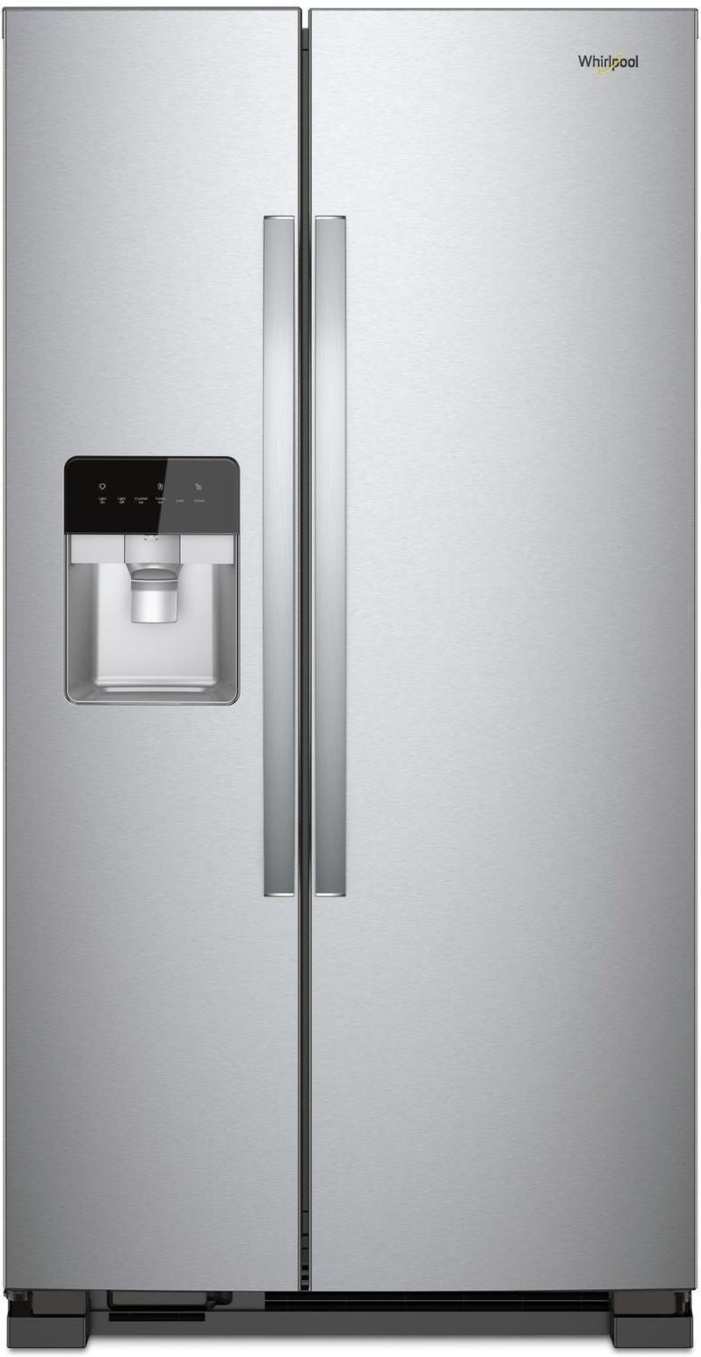Whirlpool Monochromatic Stainless Steel Side-by-Side Refrigerator (21 Cu. Ft.) - WRS331SDHM