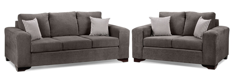 Fava 2 Pc. Living Room Package W/Loveseat - Grey