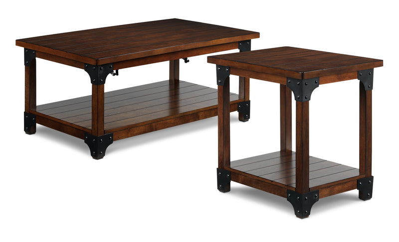 Wellington Coffee Table And End Table   Walnut