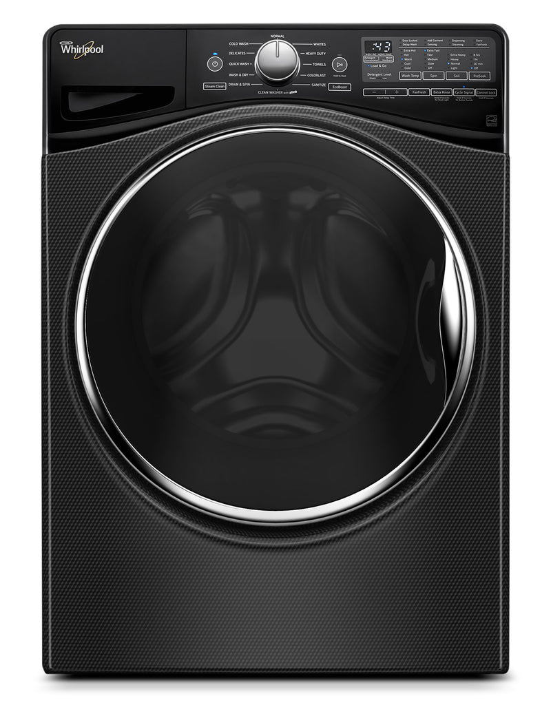 Whirlpool Black Diamond Front-Load Washer (4.8 Cu. Ft. IEC) - WFW9290FBD