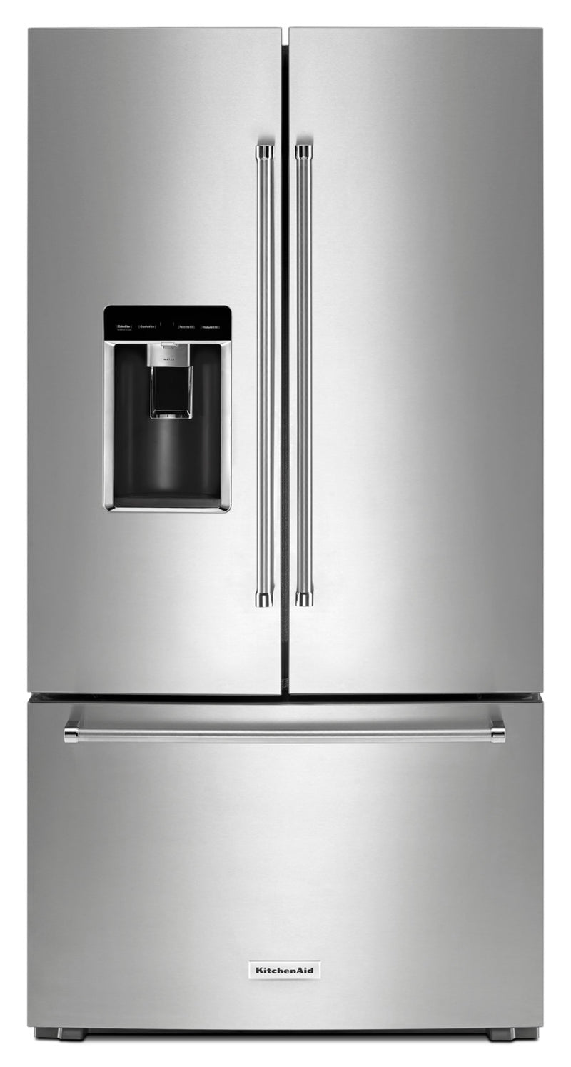 KitchenAid Stainless Steel Counter-Depth French Door Refrigerator (23.8 Cu. Ft.) - KRFC704FPS