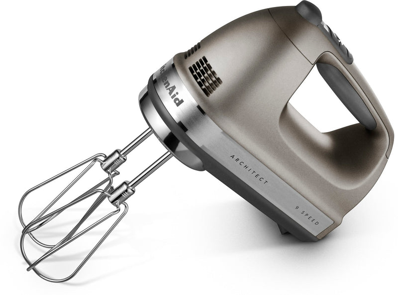 KitchenAid Cocoa Silver 9-Speed Architect Series Hand Mixer - KHM926ACS