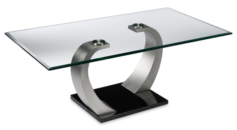 Cassatt Coffee Table - Chrome and Black