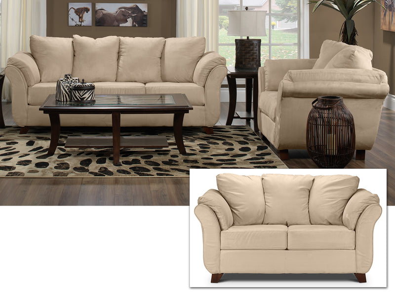 Collier 3 Pc. Living Room Package - Beige