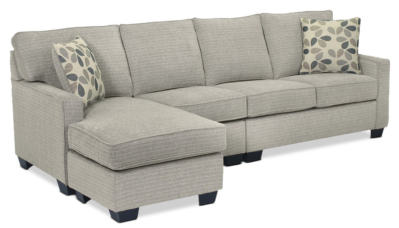 Trinity 2-Piece Sectional with Modular Chaise - Pewter