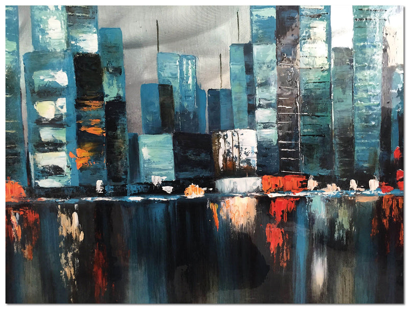 "Blue City Framed Painting (48"" X 36"")"