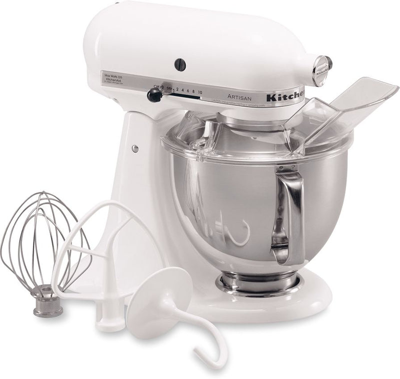 KitchenAid White 5-Quart Tilt-Head Stand Mixer - KSM150PSWH