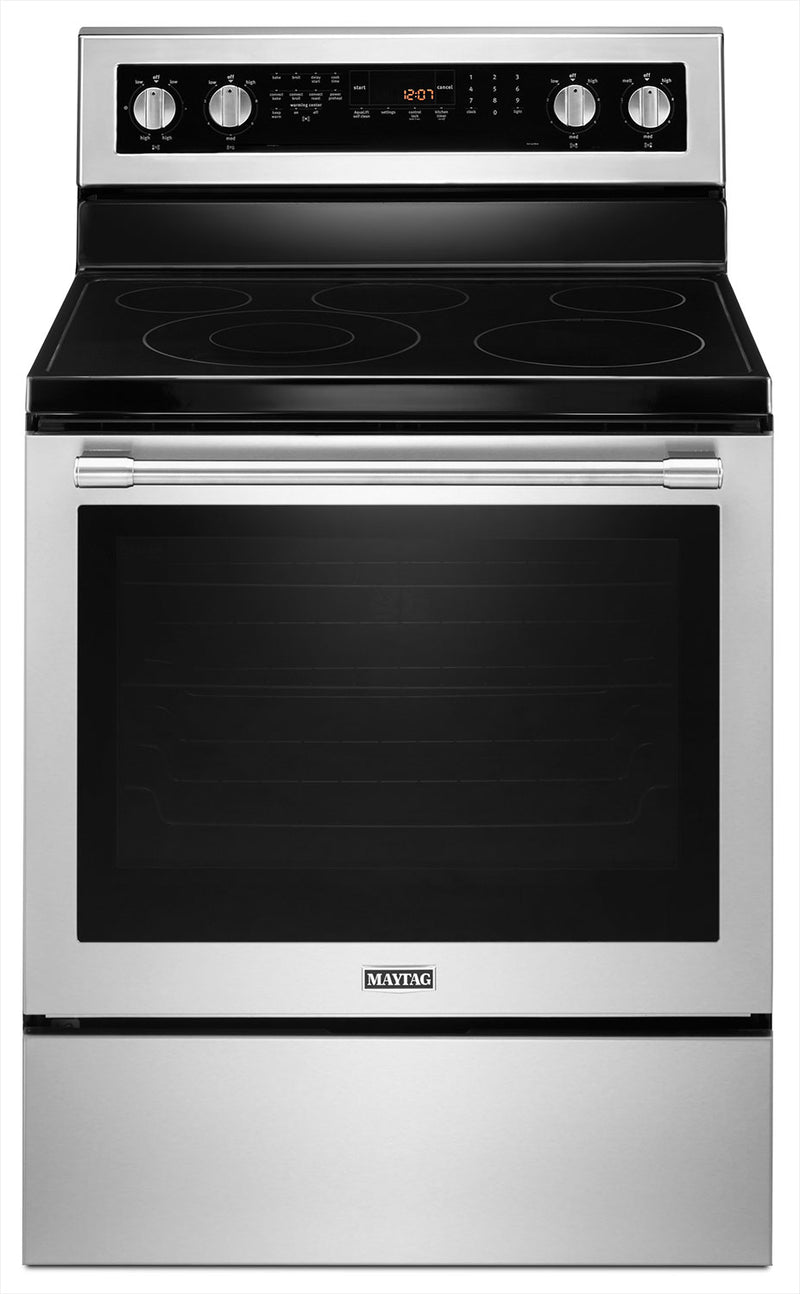 Maytag Fingerprint-Resistant Stainless Steel Electric Freestanding Range (6.4 Cu. Ft.) - YMER8800FZ