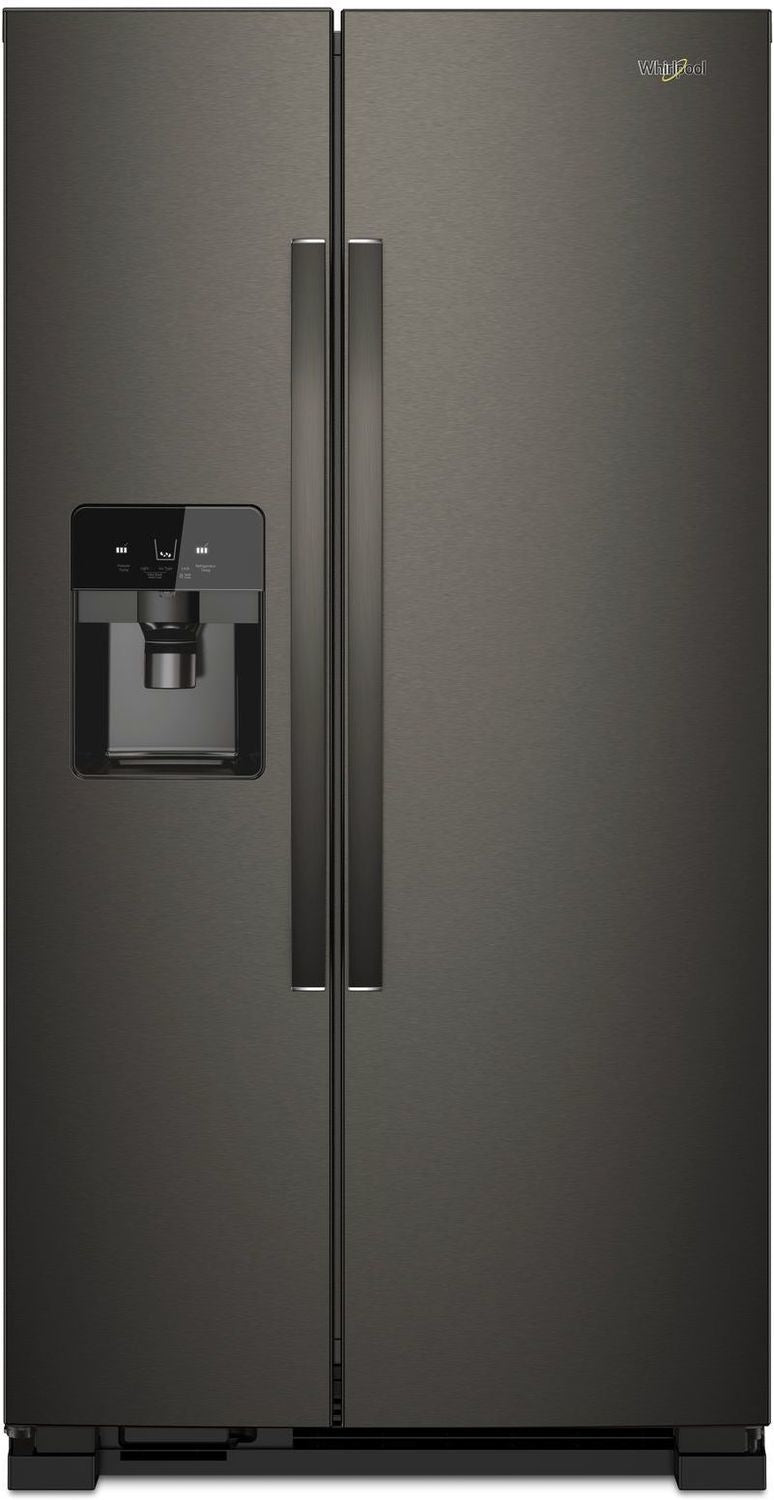 Whirlpool Black Stainless Steel Side-by-Side Refrigerator (25 Cu. Ft.) - WRS555SIHV