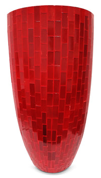Rosalyn Floor Vase - Red