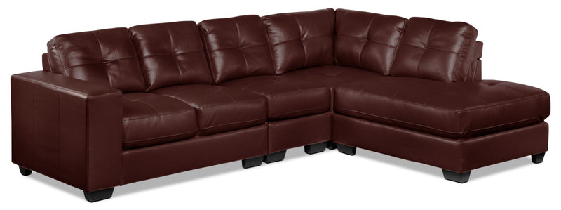 Meldrid 4-Piece Sectional with Right-Facing Chaise - Dark Brown