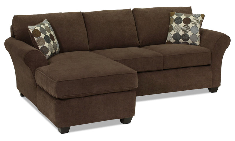 Althea 2-Piece Sectional with Left-Facing Chaise - Coffee