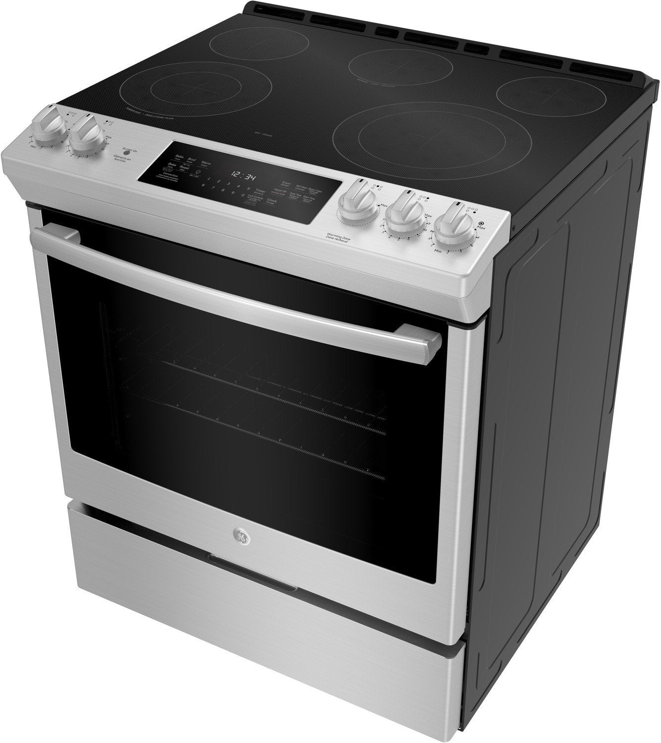 Ge Stainless Steel Slide In Electric True Convection Range