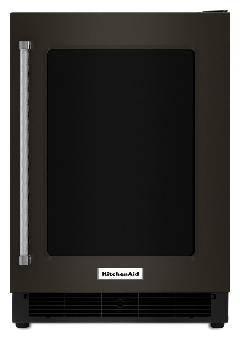 KitchenAid Black Stainless Steel Undercounter Refrigerator (5.1 Cu. Ft.) w/ Right Swing - KURR304EBS
