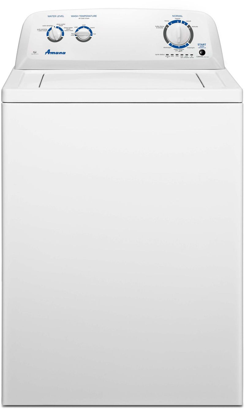 Amana White Top-Load Washer (4.0 Cu. Ft. IEC) - NTW4516FW