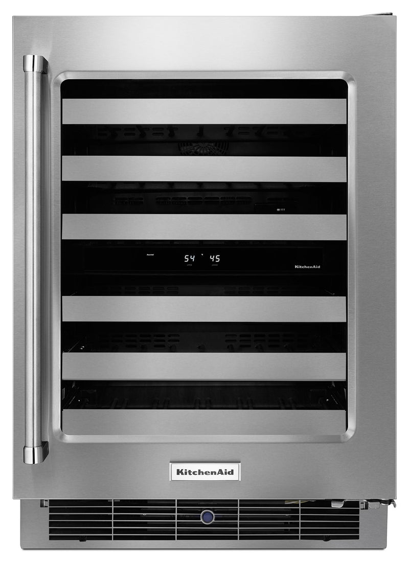 KitchenAid Stainless Steel Wine Cooler (4.7 Cu. Ft.) w/ Right Door-Swing - KUWR304ESS
