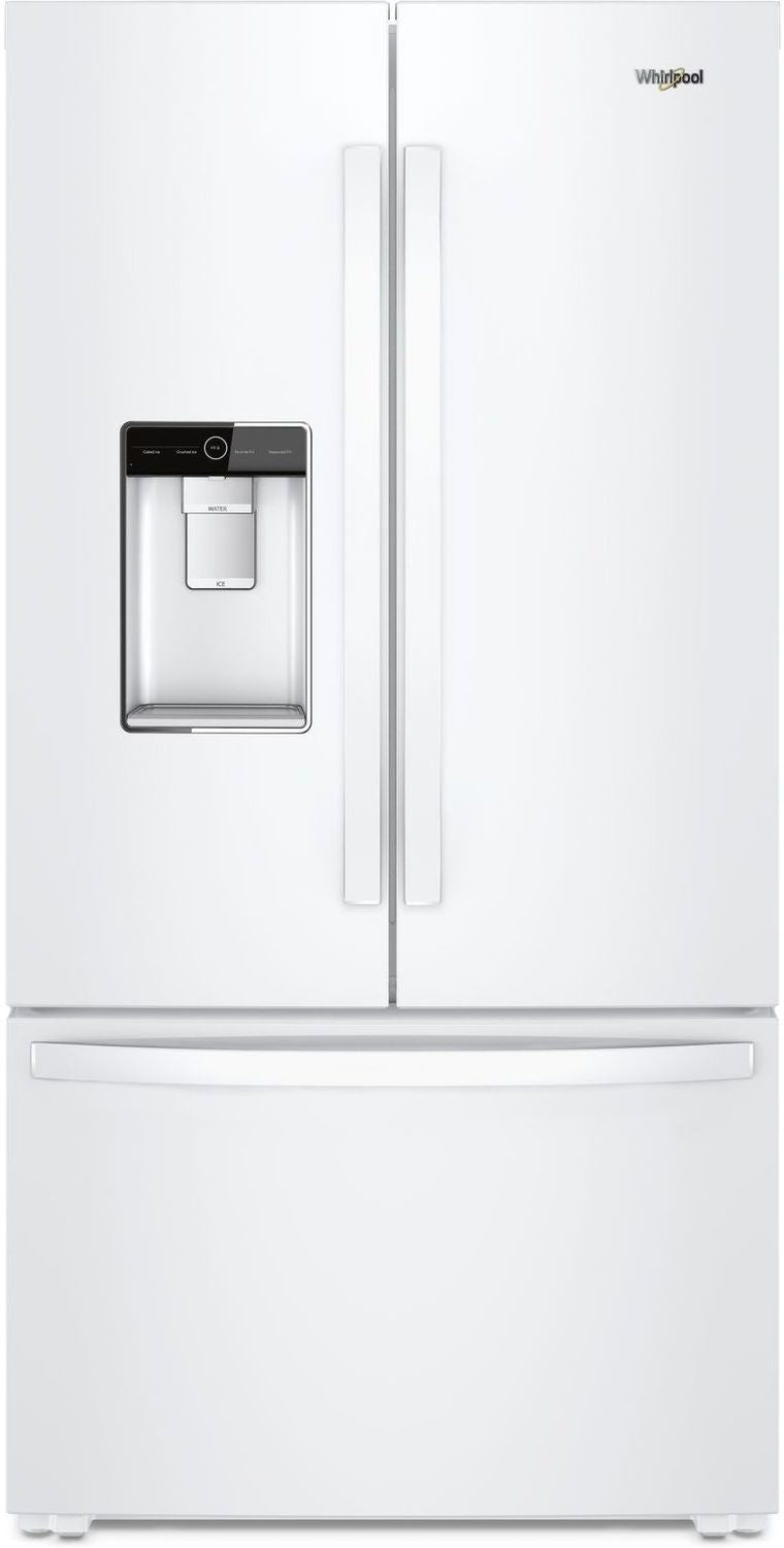 Whirlpool White Counter Depth French Door Refrigerator 24 Cu Ft