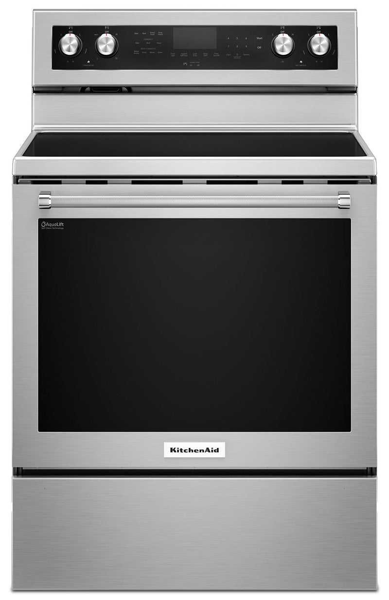 KitchenAid Stainless Steel Freestanding Electric Convection Range (6.4 Cu. Ft.) - YKFEG500ESS