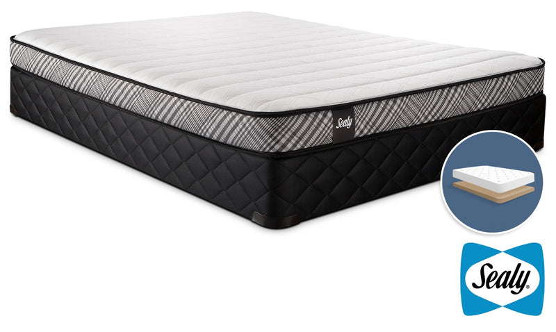 Sealy Notion Firm Full Mattress and Low-Profile Boxspring Set