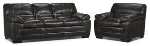 Amarillo Sofa and Chair Set - Charcoal