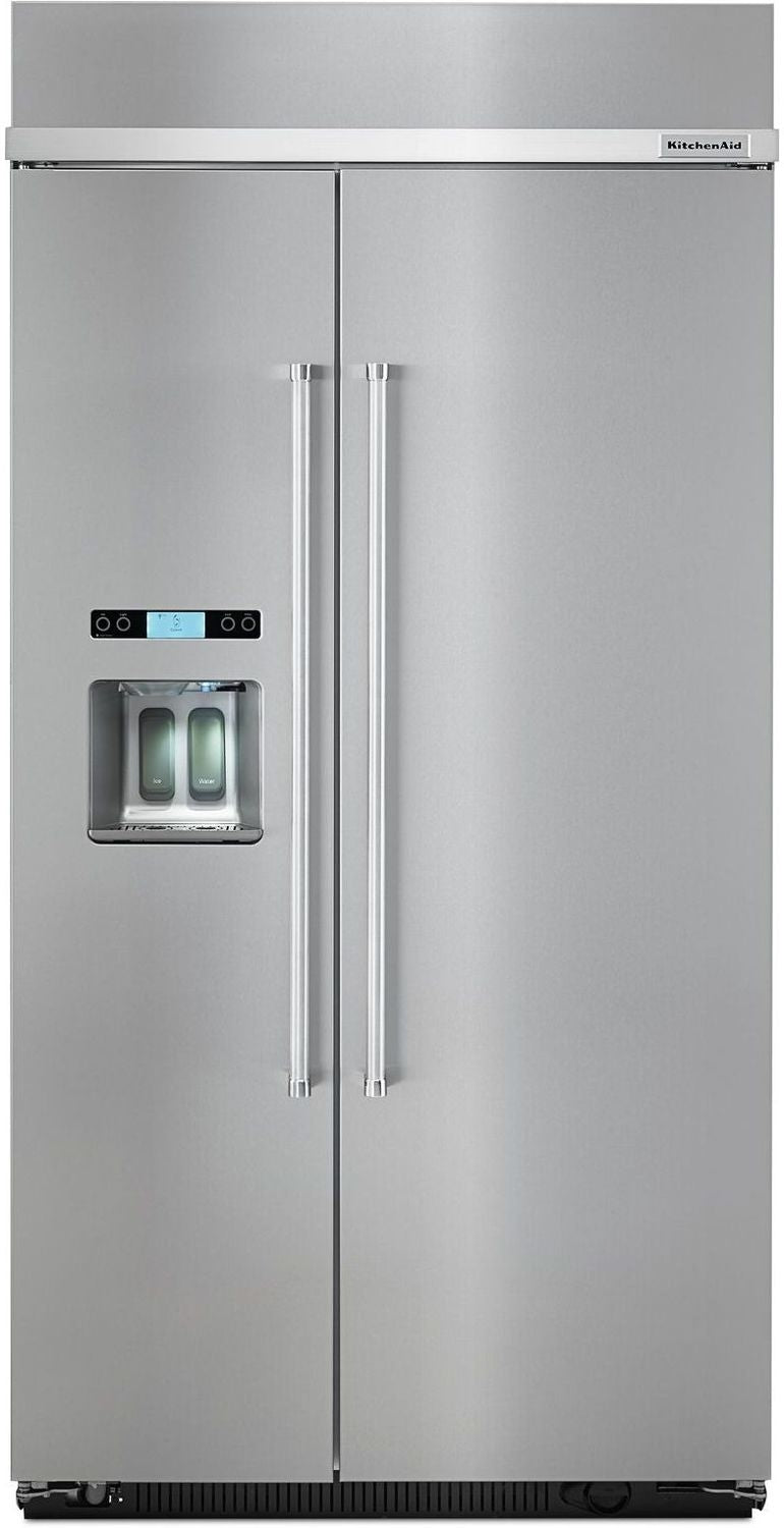 KitchenAid Stainless Steel Counter-Depth Side-by-Side Refrigerator (25 Cu. Ft.) - KBSD612ESS