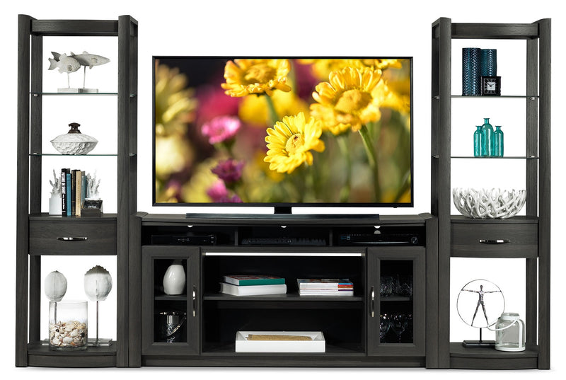Gallagher 3-Piece Entertainment Wall Unit - Grey
