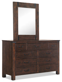 Pine Hill Mirror - Rustic Pine