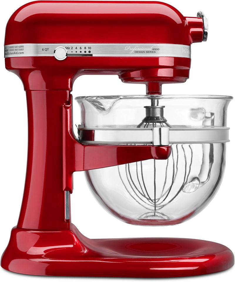 KitchenAid Candy Apple Red 6-Quart Bowl-Lift Stand Mixer - KSM6521XCA