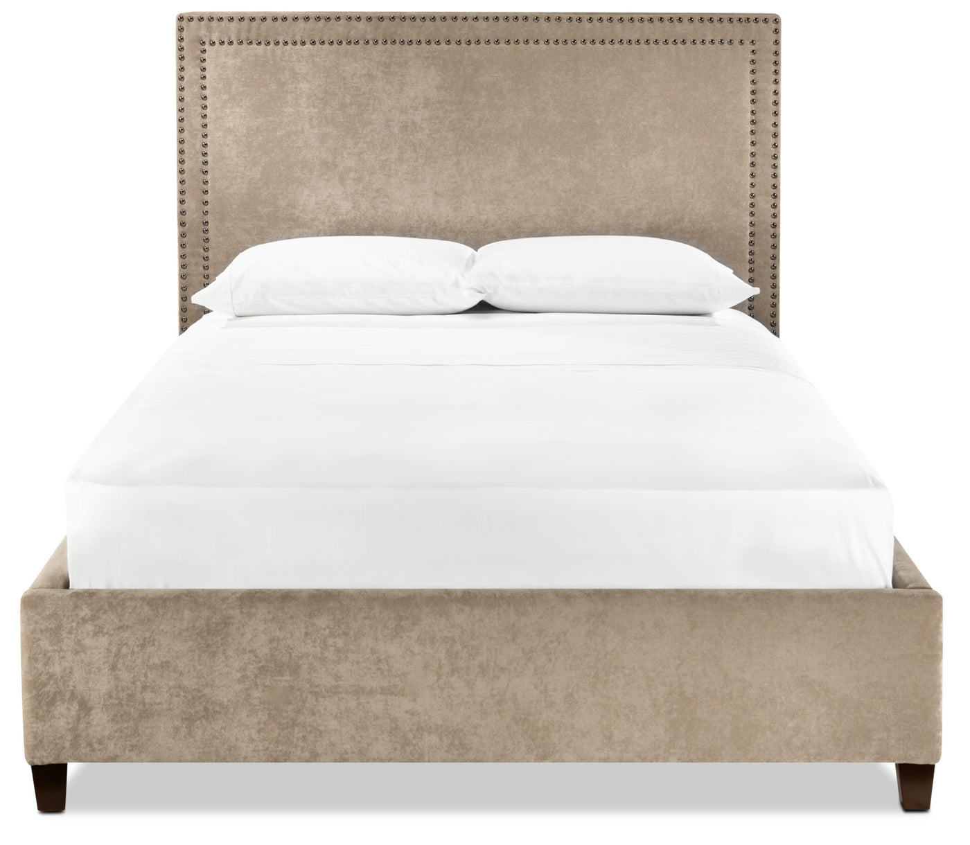 Cloud King Upholstered Bed Tan Leon S