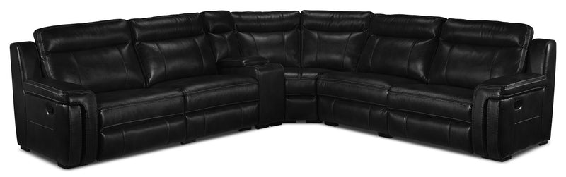 Bolero 6-Piece Reclining Sectional - Black