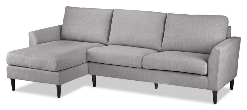 Maria 2-Piece Sectional with Left-Facing Chaise - Light Grey