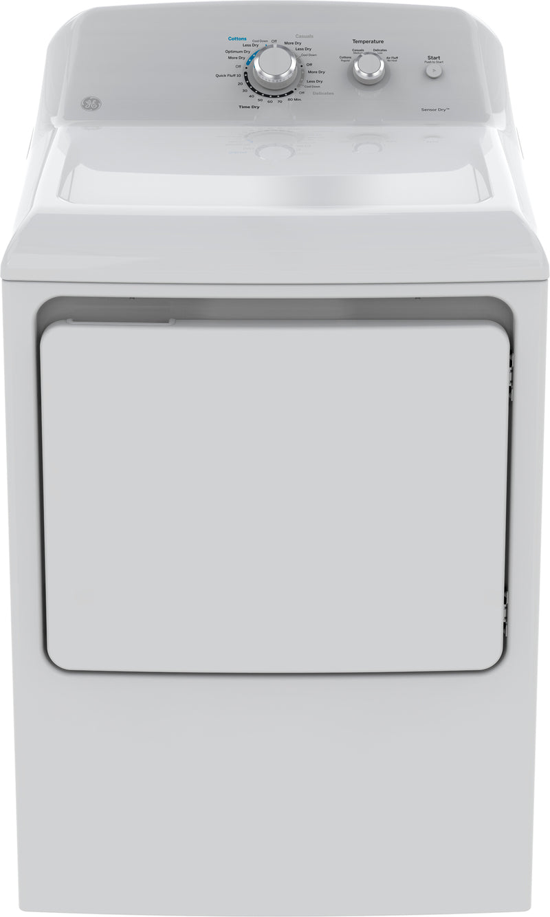 GE White Gas Dryer (7.2 Cu. Ft.) - GTD40GBMKWW