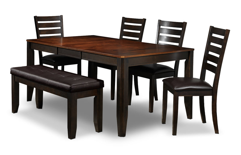 Krista 6-Piece Dinette Set - Dark Chocolate