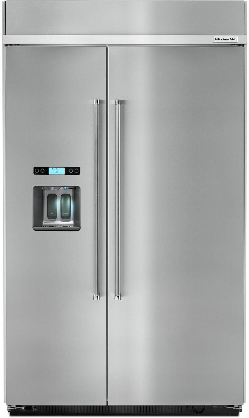 KitchenAid Stainless Steel Counter-Depth Side-by-Side Refrigerator (29.5 Cu. Ft.) - KBSD618ESS