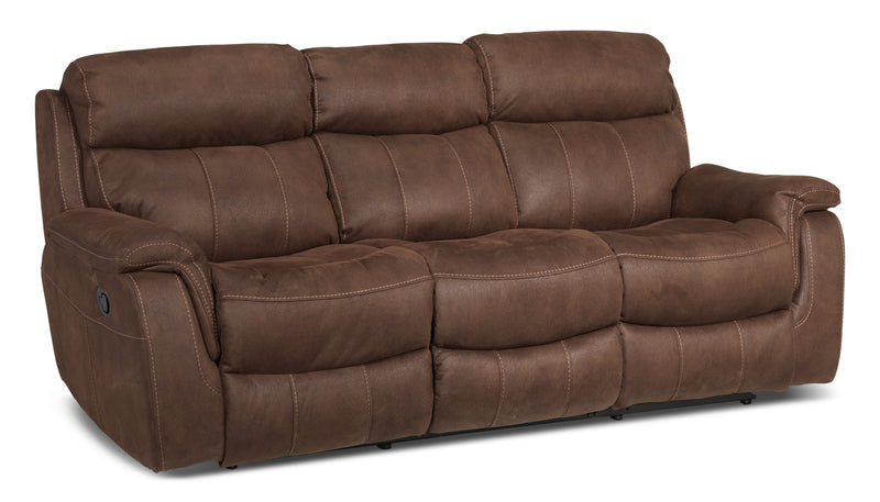 Morrow Reclining Sofa - Saddle Brown