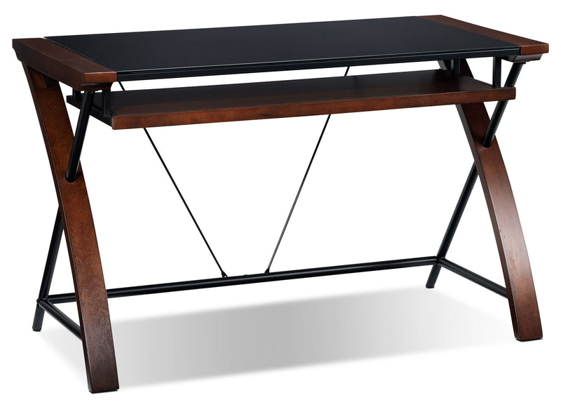 Blaise Computer Desk - Cherry
