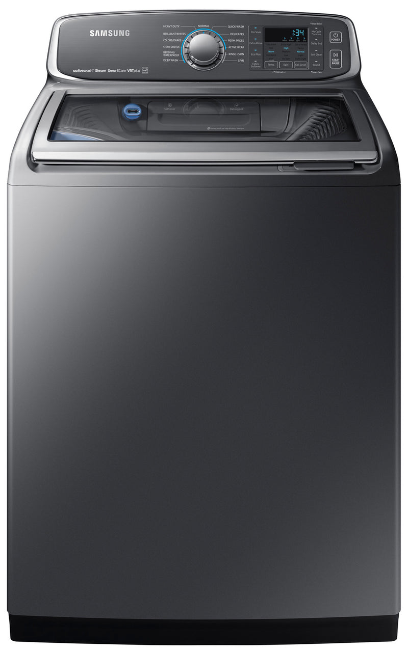 Samsung Platinum Top-Load Washer (6.0 Cu.Ft) - WA52M7755AP/A4