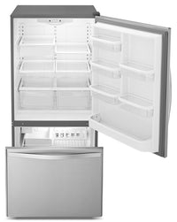 Whirlpool Stainless Steel Bottom-Freezer Refrigerator (22.1 Cu. Ft.) - WRB322DMBM