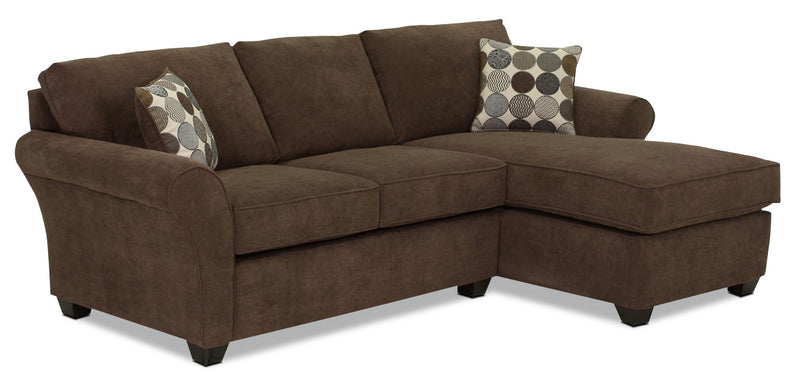 Althea 2-Piece Sectional with Right-Facing Chaise - Coffee