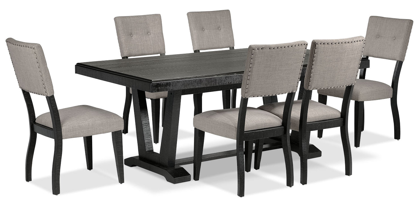 5bef9d76952 Imari 7-Piece Dining Room Set - Black and Grey. Touch to zoom