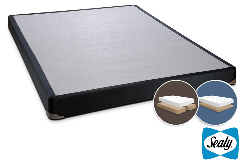 Sealy Charcoal Luxe King Split Low-Profile Boxspring