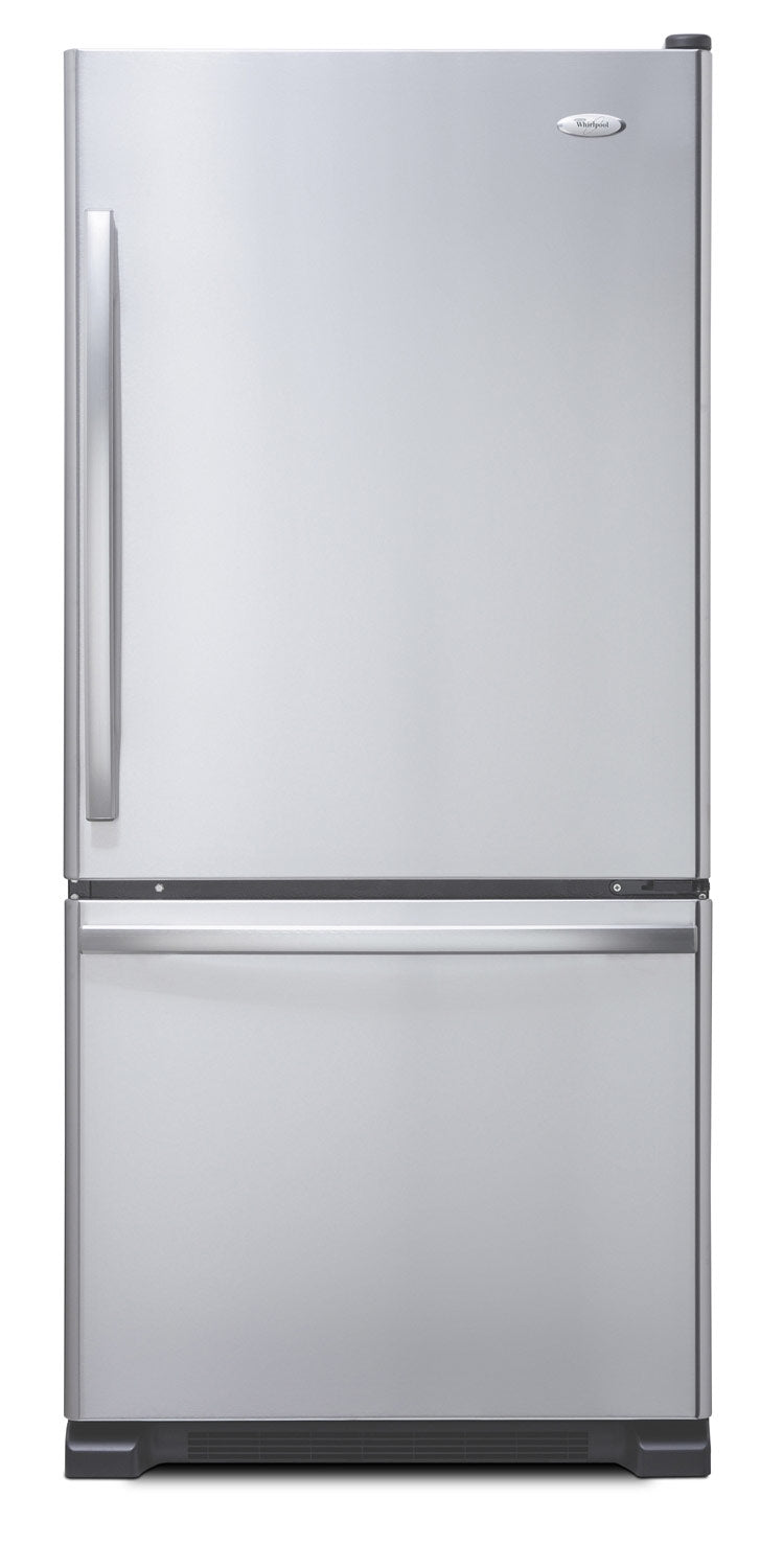 Whirlpool Stainless Steel Bottom-Freezer Refrigerator (19 Cu. Ft.) - WRB329RFBM