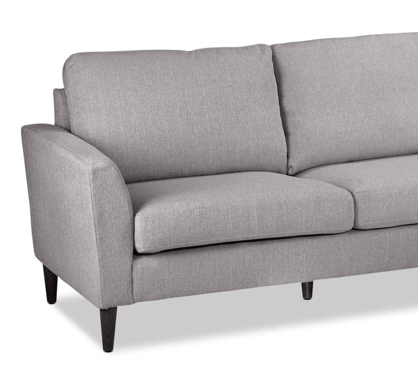 Maria 2 Piece Sectional With Right Facing Chaise Light Grey Leon S