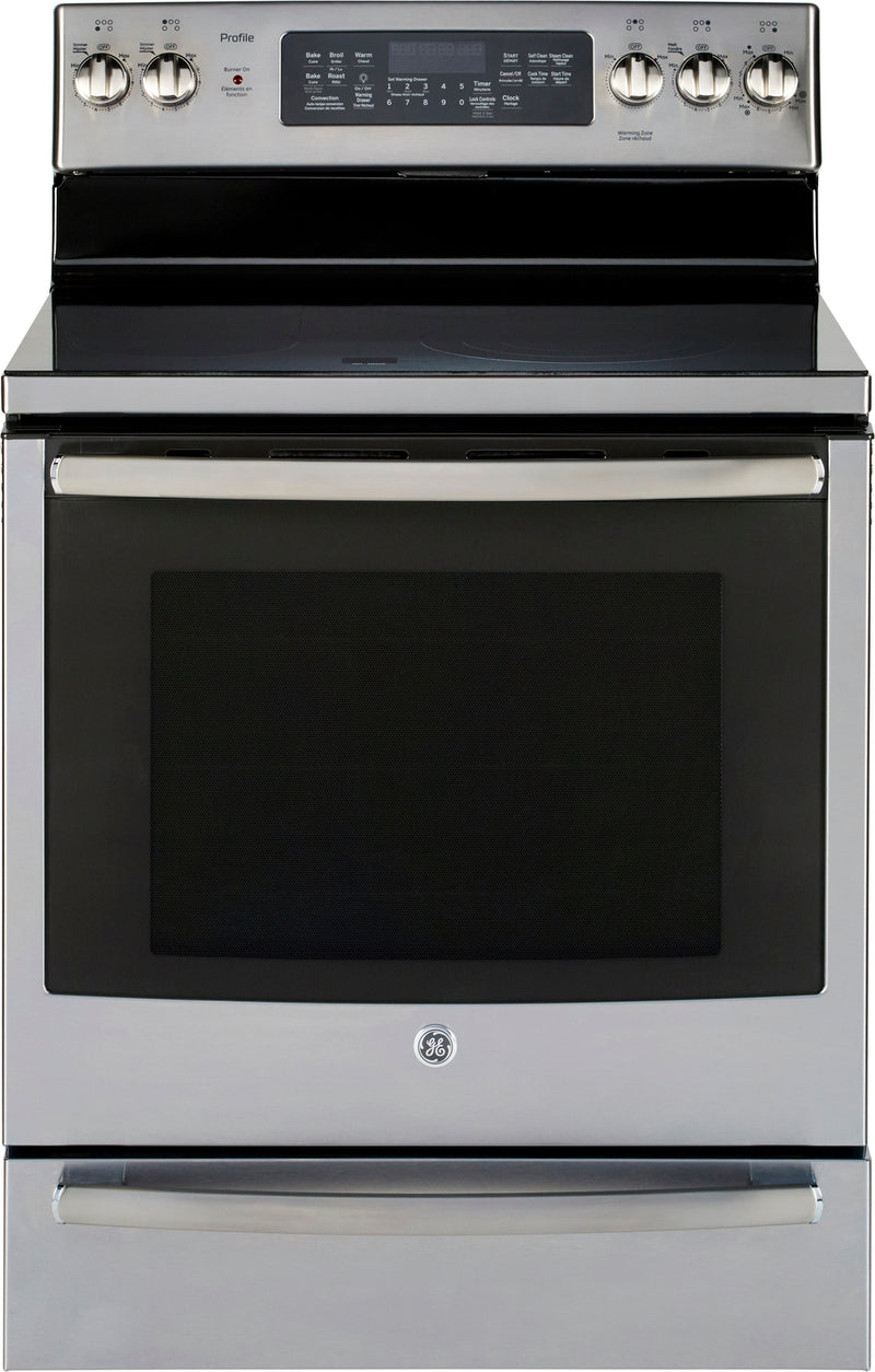 GE Profile Stainless Steel Freestanding Electric True Convection Range (6.2 Cu. Ft.) - PCB940SKSS