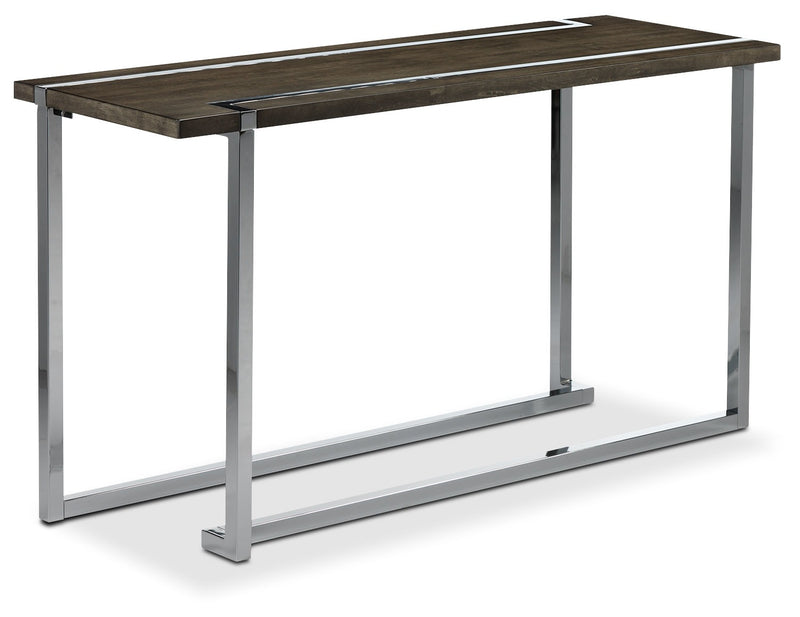 Kieran Sofa Table - Charcoal and Chrome